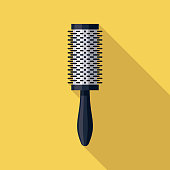 Round Brush Hairdressing Icon