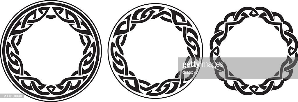 Round Celtic Band Set