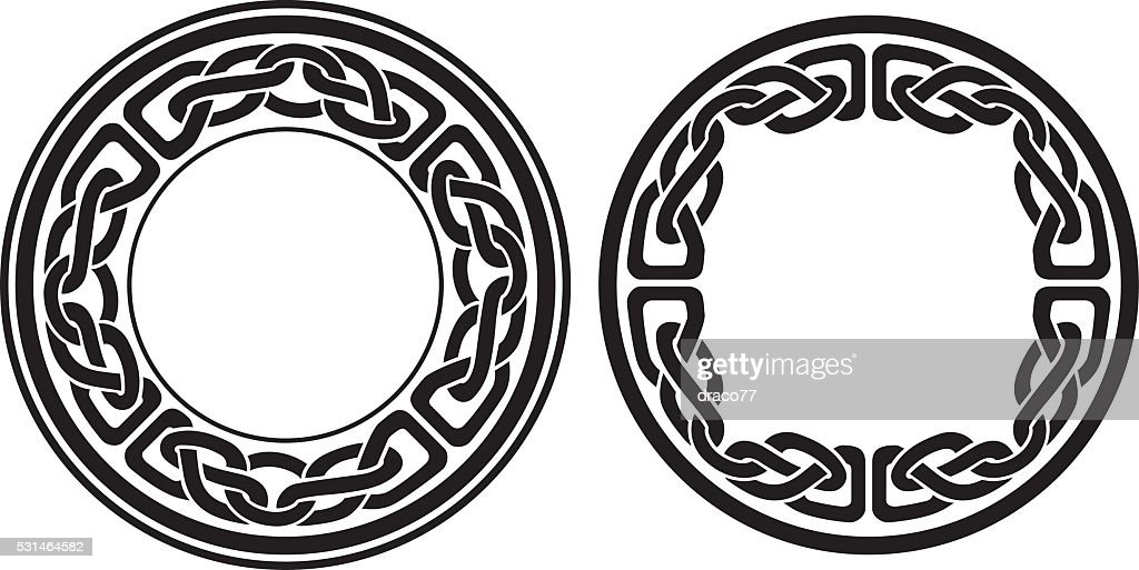 Round Celtic Frame