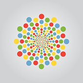 Round Circles Color Group Element