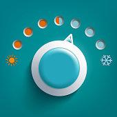 Round climate control regulator
