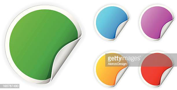Round Colorful Stickers