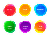 Round colorful vector abstract shapes. Color gradient round banners, creative art and graphic design elements