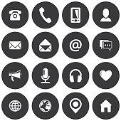 Round communication icons
