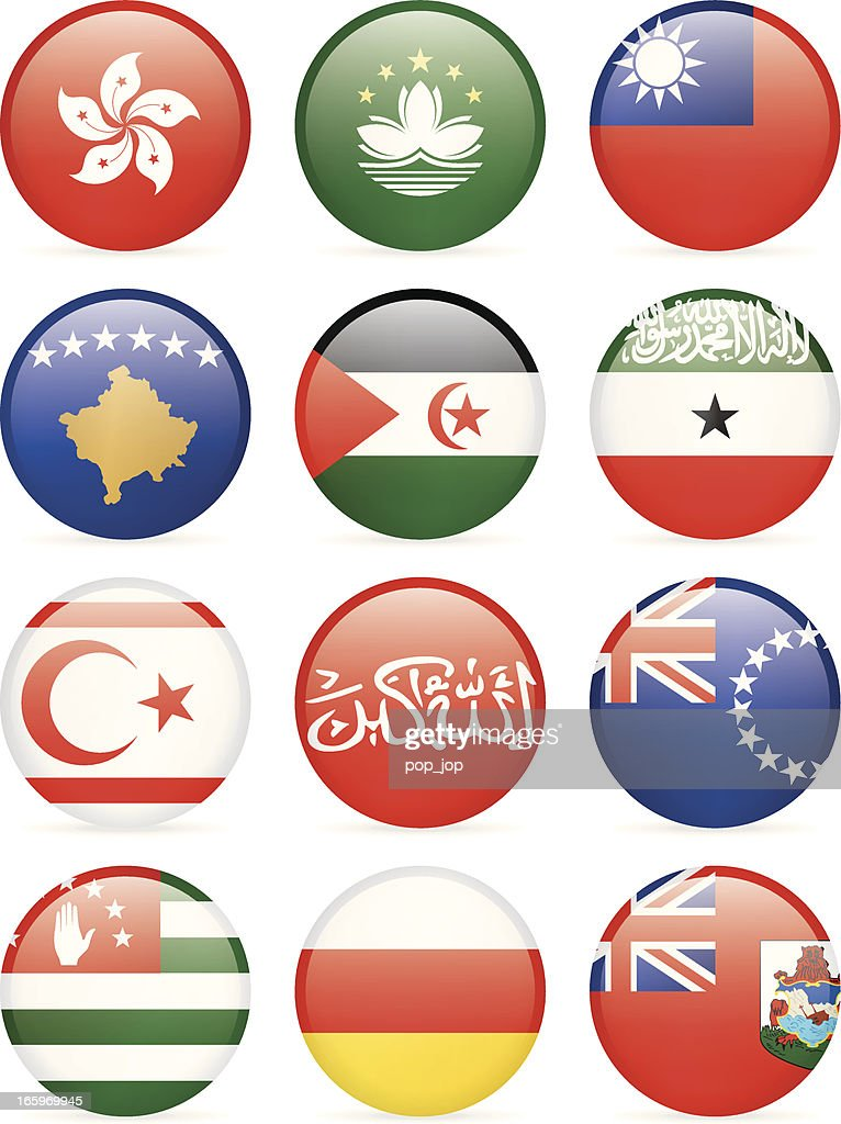 Round flag icon collection - other countries