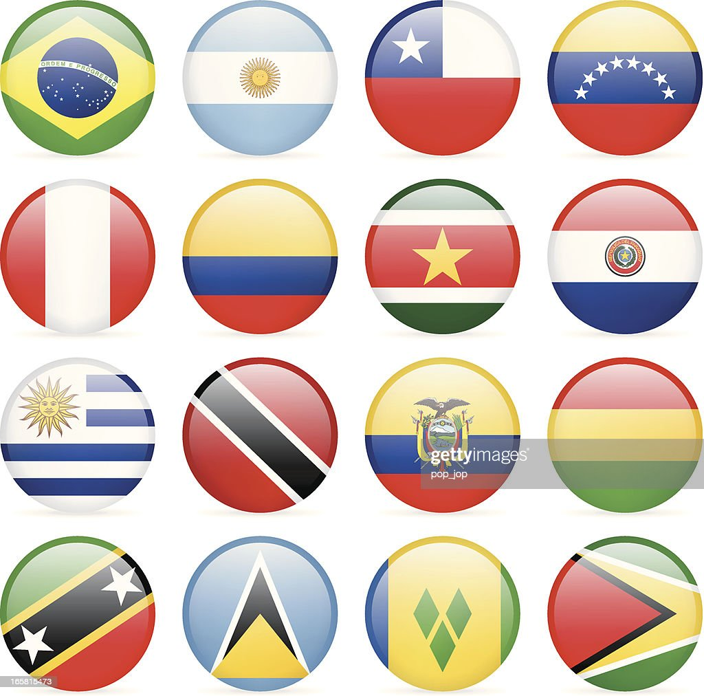 Round Flag Icon Collection - South and Central America