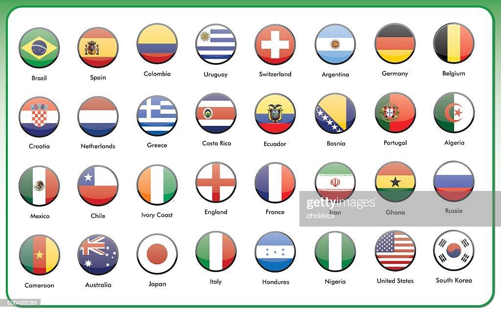 round flag icons set