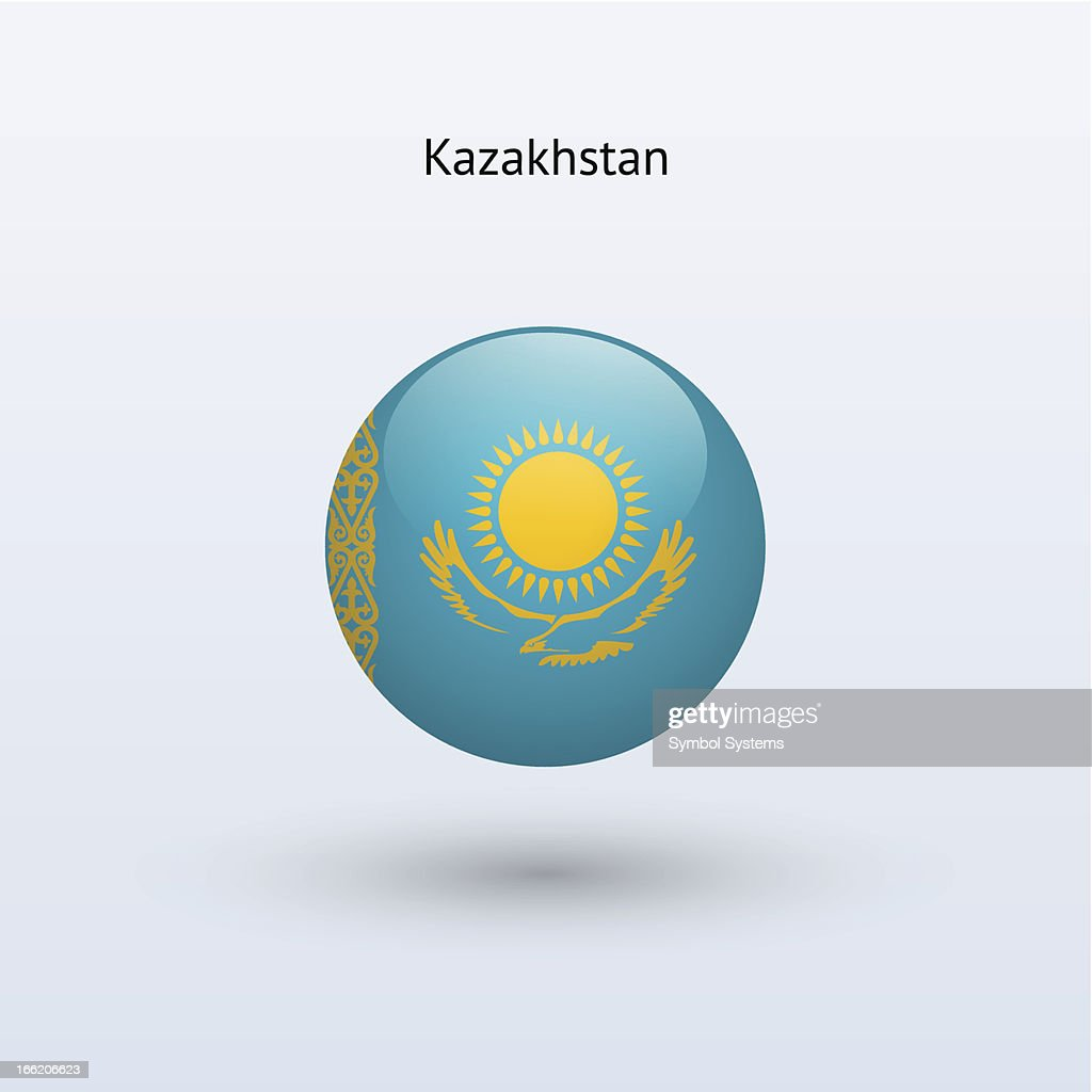 Round flag of Kazakhstan
