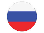Round Flag of Russia