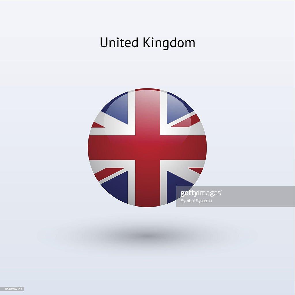 Round flag of United Kingdom
