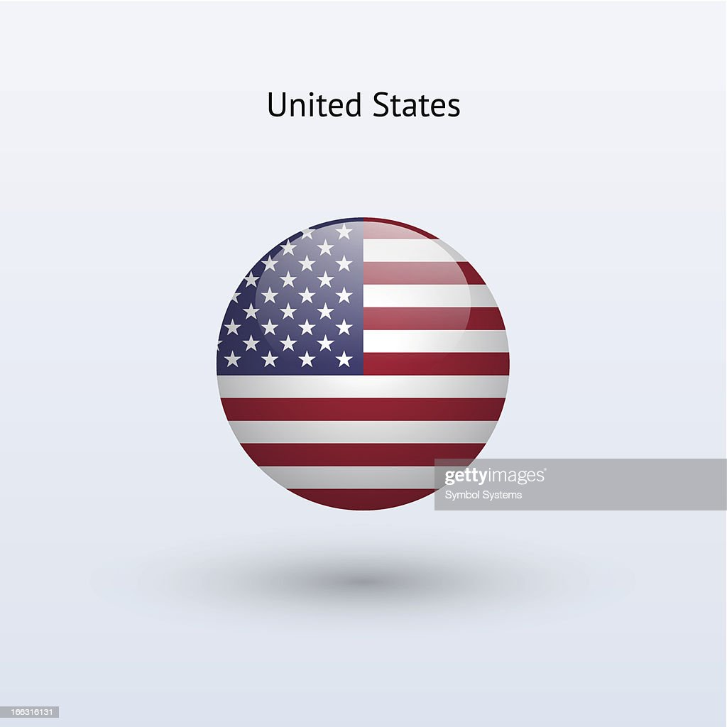 Round flag of United States