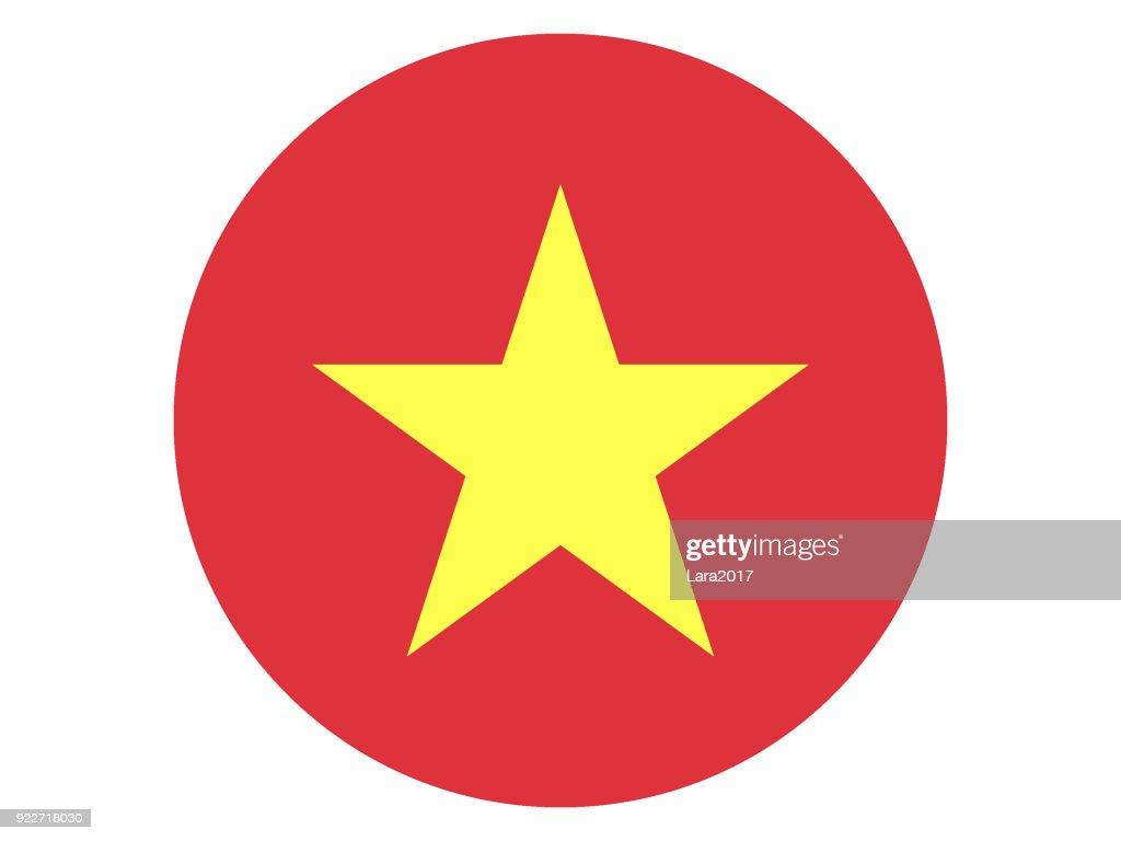 Round Flag of Vietnam
