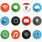 Round Flat App Icon Set