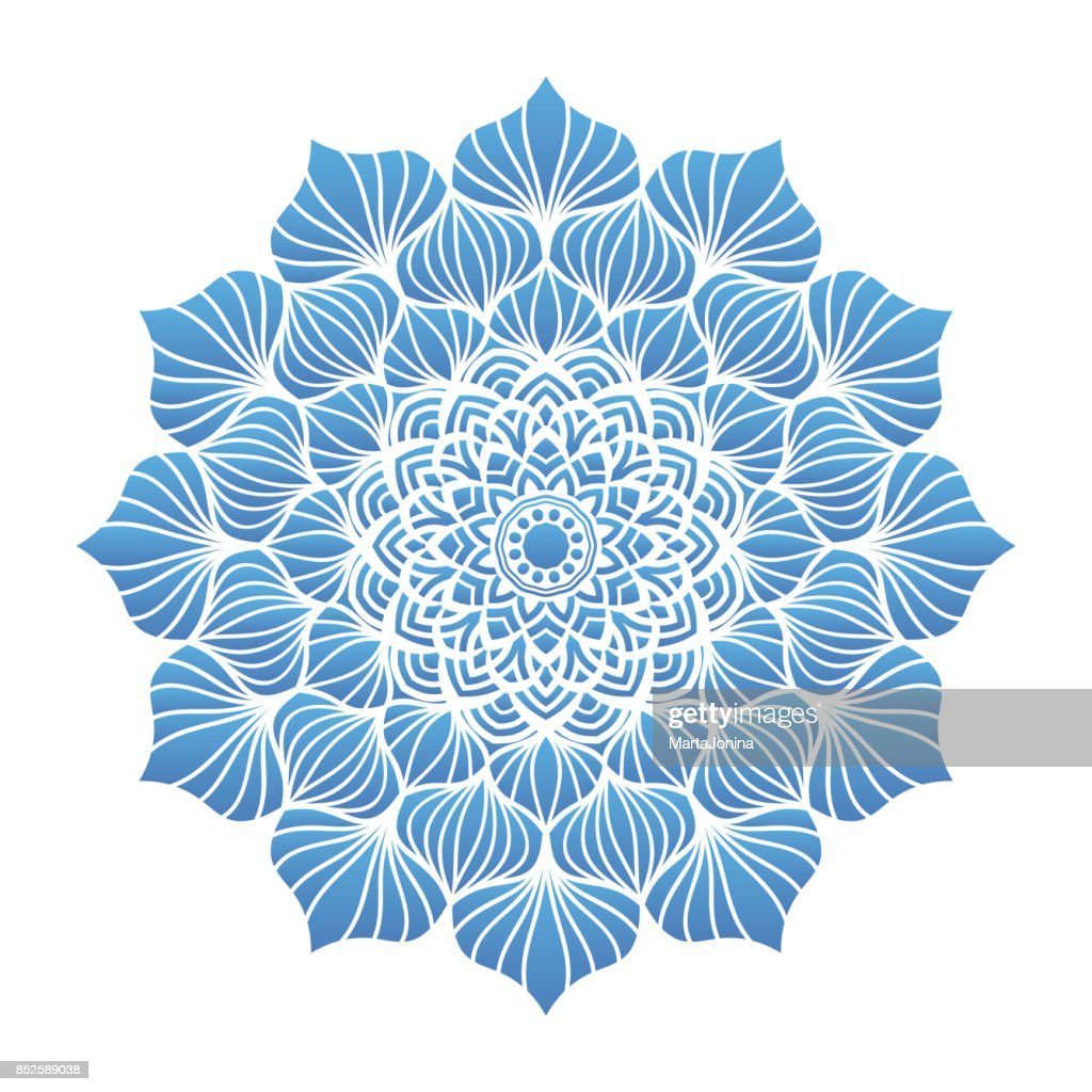 Round flower mandala ornament