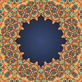 Round frame for text in arab style a lot of
