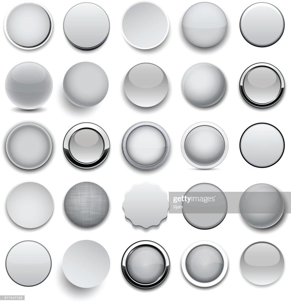 Round grey icons.