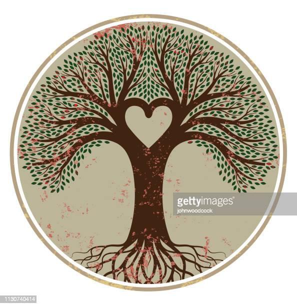 Runde Grunge-Baum-Darstellung