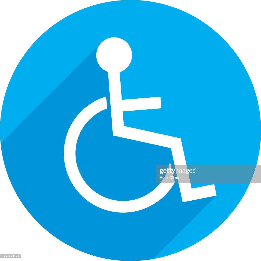 Round Handicapped Icon : stock illustration