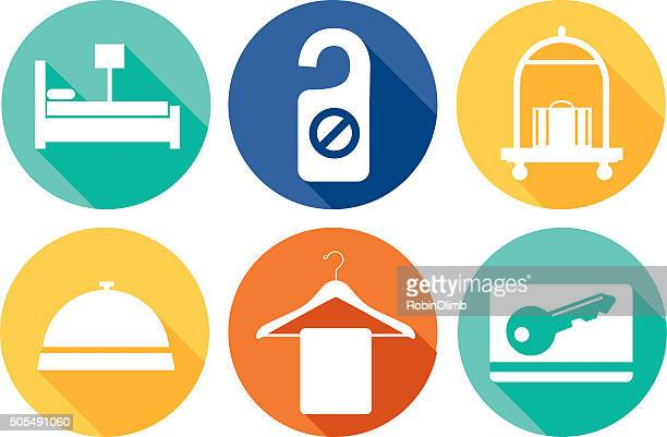 round hotel icons - cardkey stock illustrations, clip art, cartoons, & icons