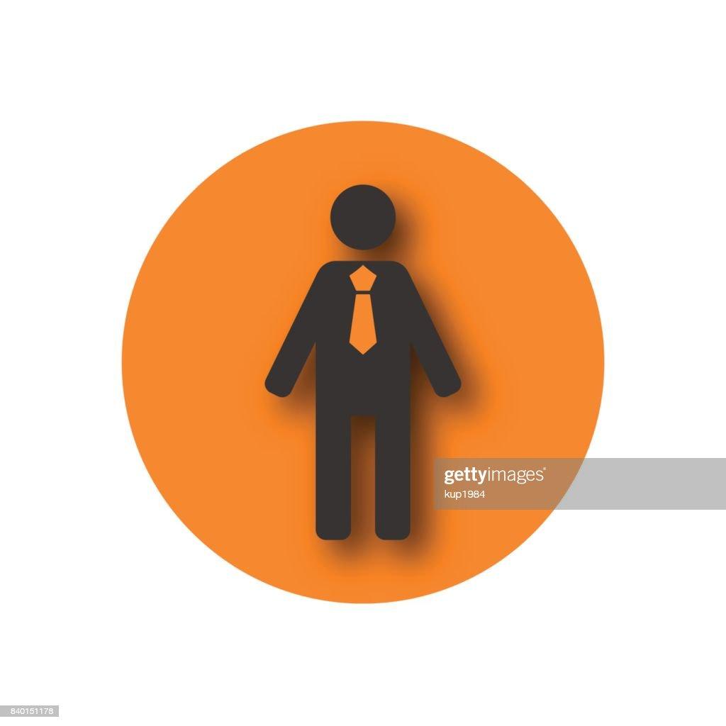 Round icon biznessmen, vector illustration.