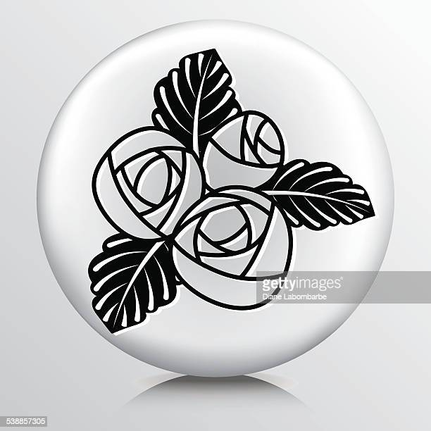 Round Icon With Florist Bridal Flower Bouquet