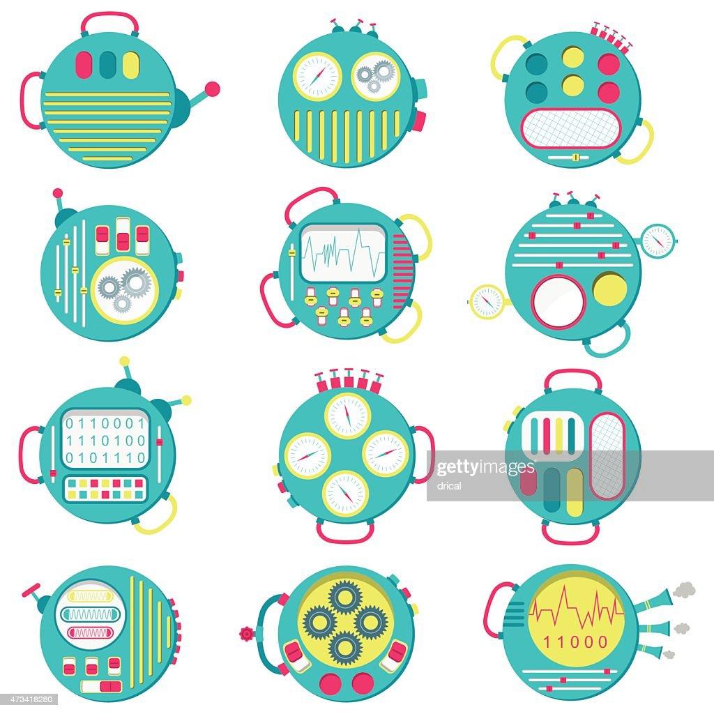 Round icons machines