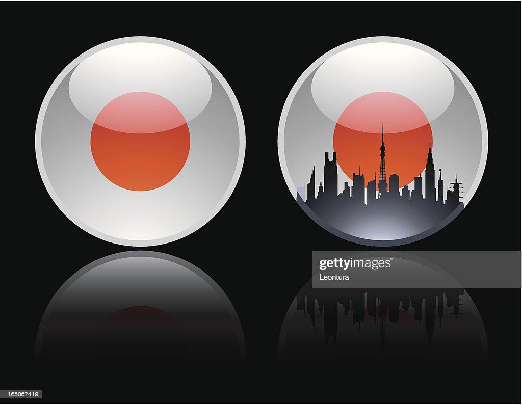 Round Japanese Marble : Stockillustraties