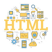 Round linear concept of HTML