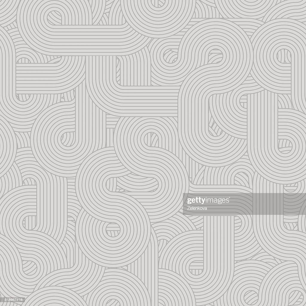 Round lines pattern gray light