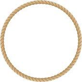 Round marine ropes frame.