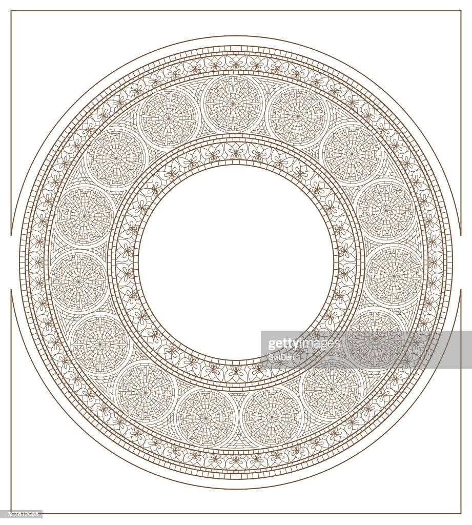 Round mosaic ornament colorless