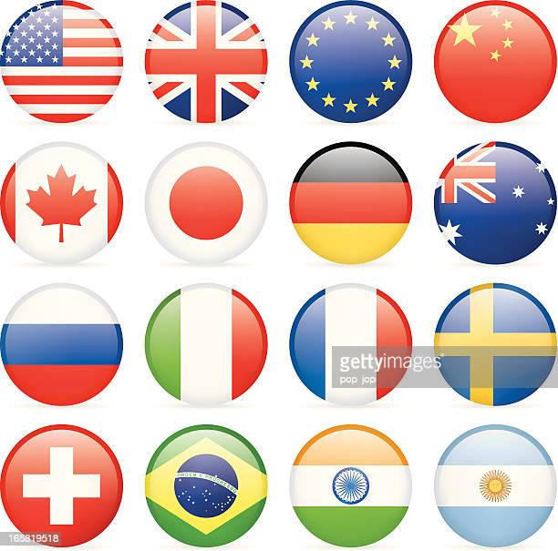 round most popular flag icons - germany stock illustrations, clip art, cartoons, & icons