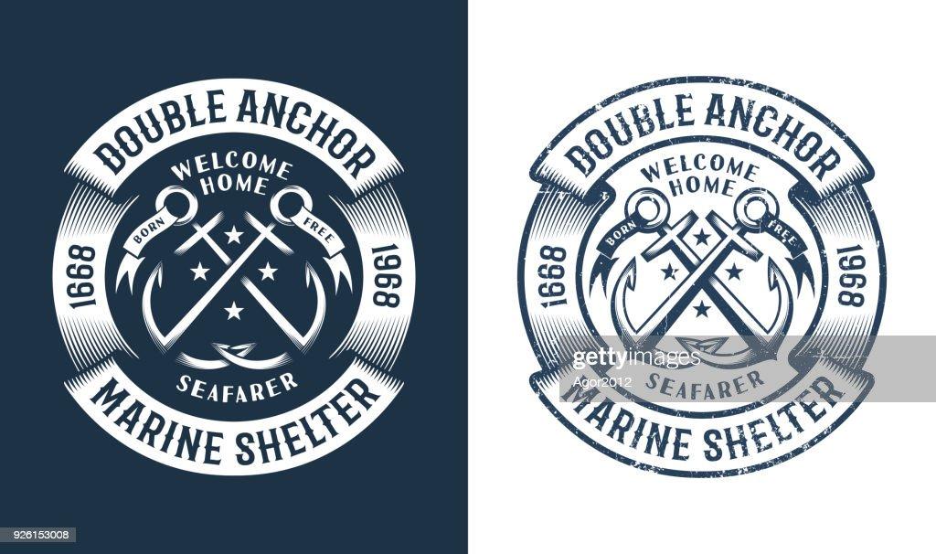 Round nautical icon