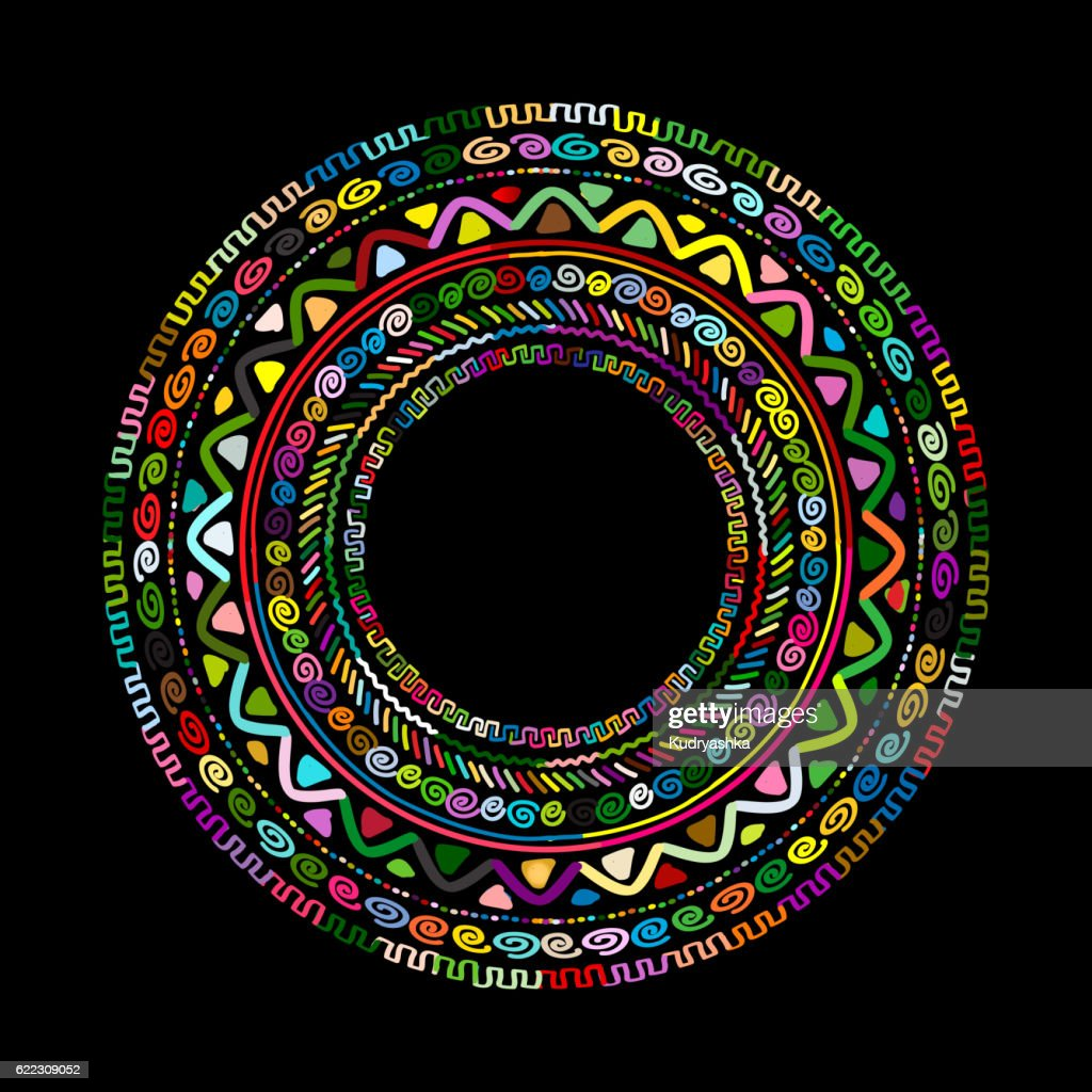 Round ornament design, ethnic mandala