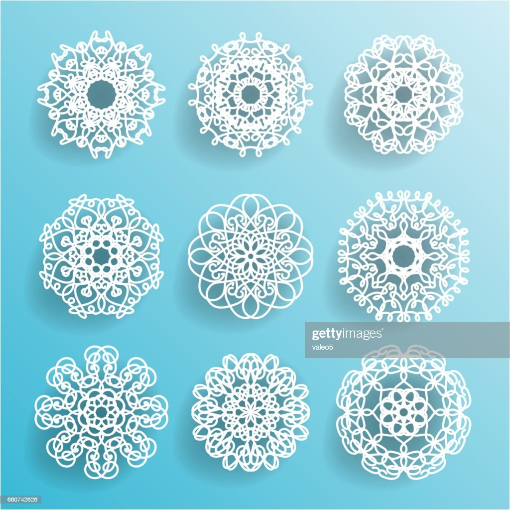 Round Ornamental Geometric Doily Pattern