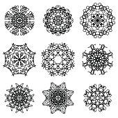 Round Ornamental Geometric  Patter