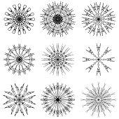 Round Ornamental Geometric Pattern