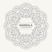 Round ornamental mandala frame