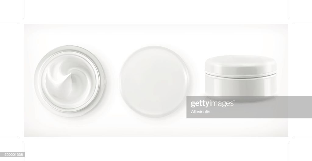 Round packaging of cream