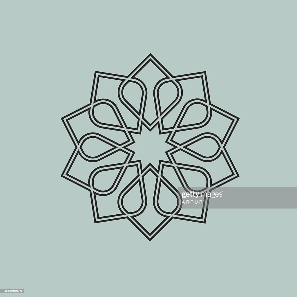 Round pattern in Arabic style : Vector Art