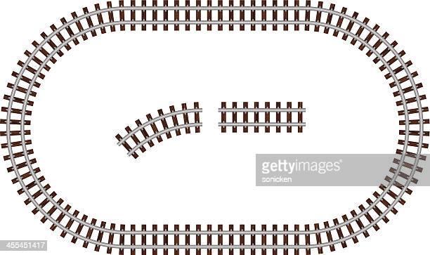 round rail road - rail freight stock illustrations, clip art, cartoons, & icons
