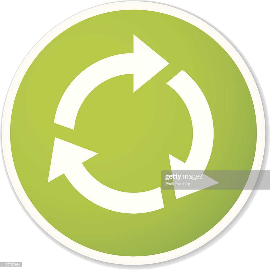 Round Recycling Symbol Sticker Vector Art Getty Images