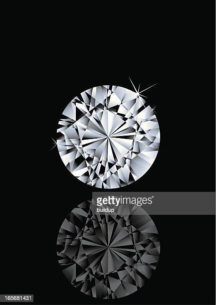 stockillustraties, clipart, cartoons en iconen met round shape gem - diamant
