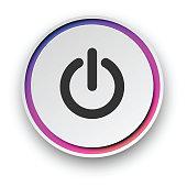 Round spectrum turn on - off button.