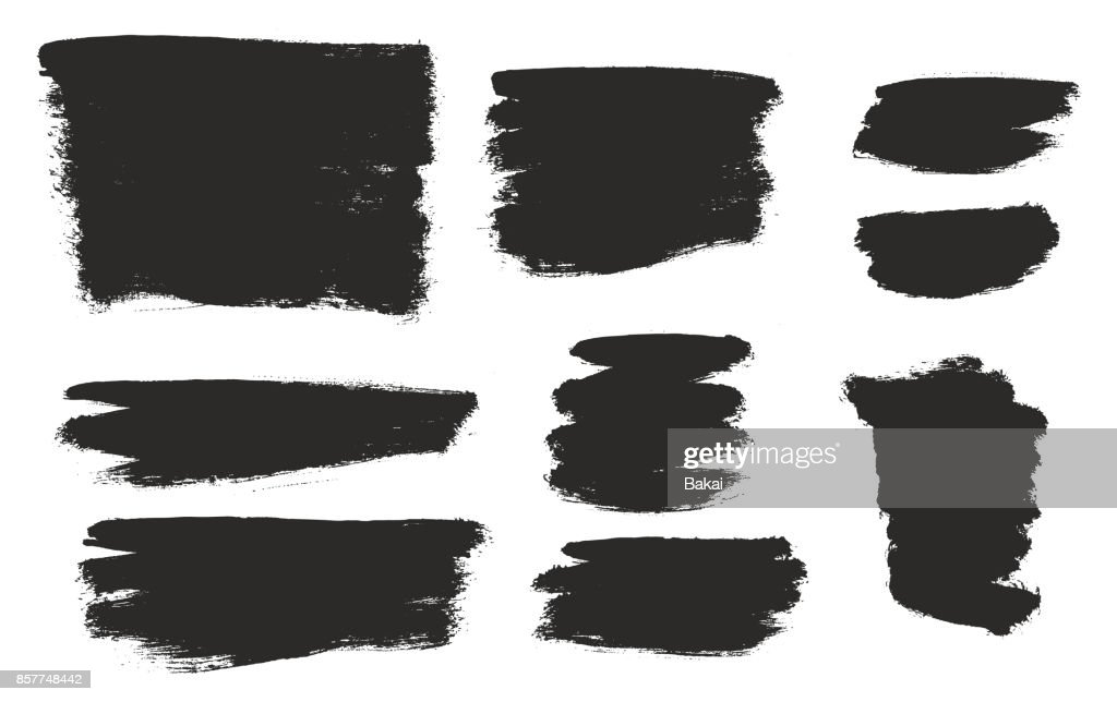 Round Tip Brush Strokes Background Heavy Paint Fill