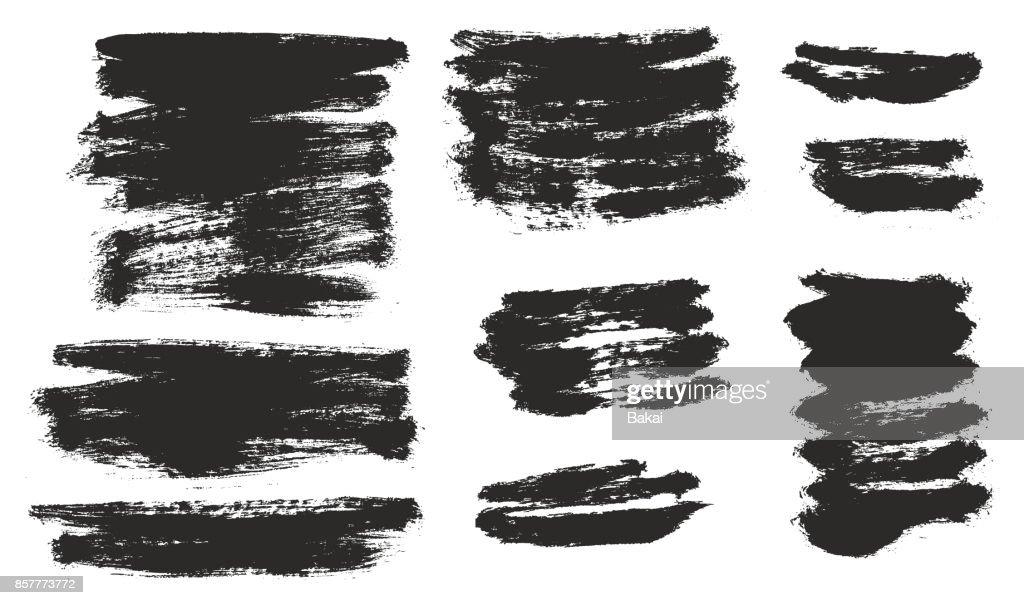 Round Tip Brush Strokes Background Light Paint Fill