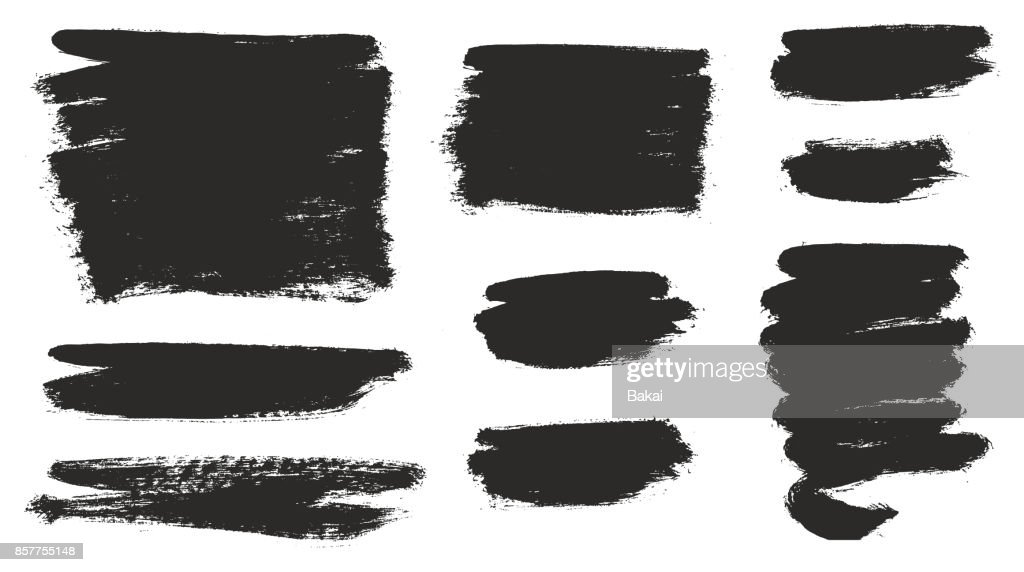 Round Tip Brush Strokes Background Mix of Heavy Paint Fill & Light Paint Fill Set 02
