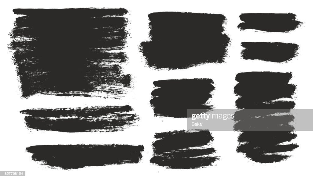 Round Tip Brush Strokes Background Mix of Heavy Paint Fill & Light Paint Fill Set 03
