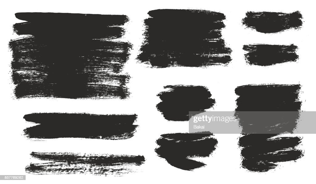 Round Tip Brush Strokes Background Mix of Heavy Paint Fill & Light Paint Fill Set 01