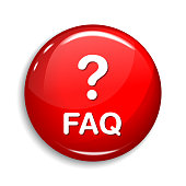 FAQ Round Vector Web Element Circular Button Icon Design